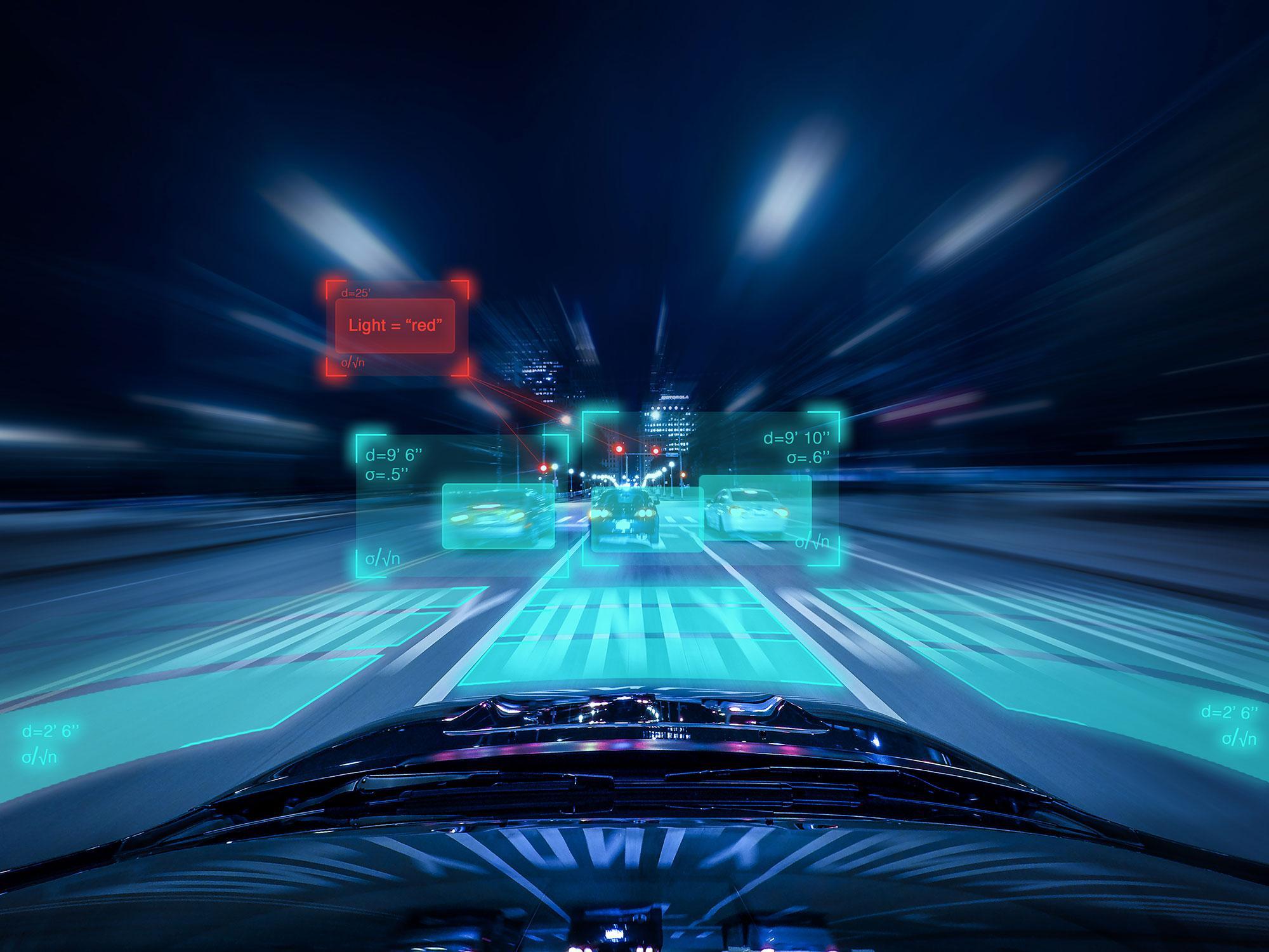 Driverless Car Evaluating upcoming Traffic