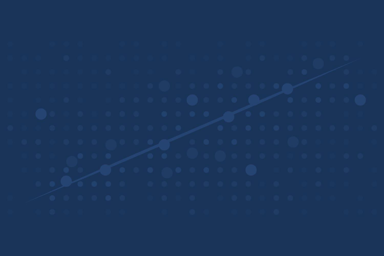 Abstract data visualization art on midnight blue