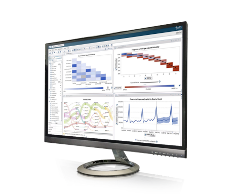 SAS Visual Analytics screenshot on monitor