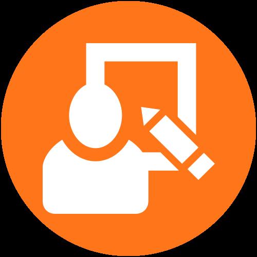 Circle icon single user