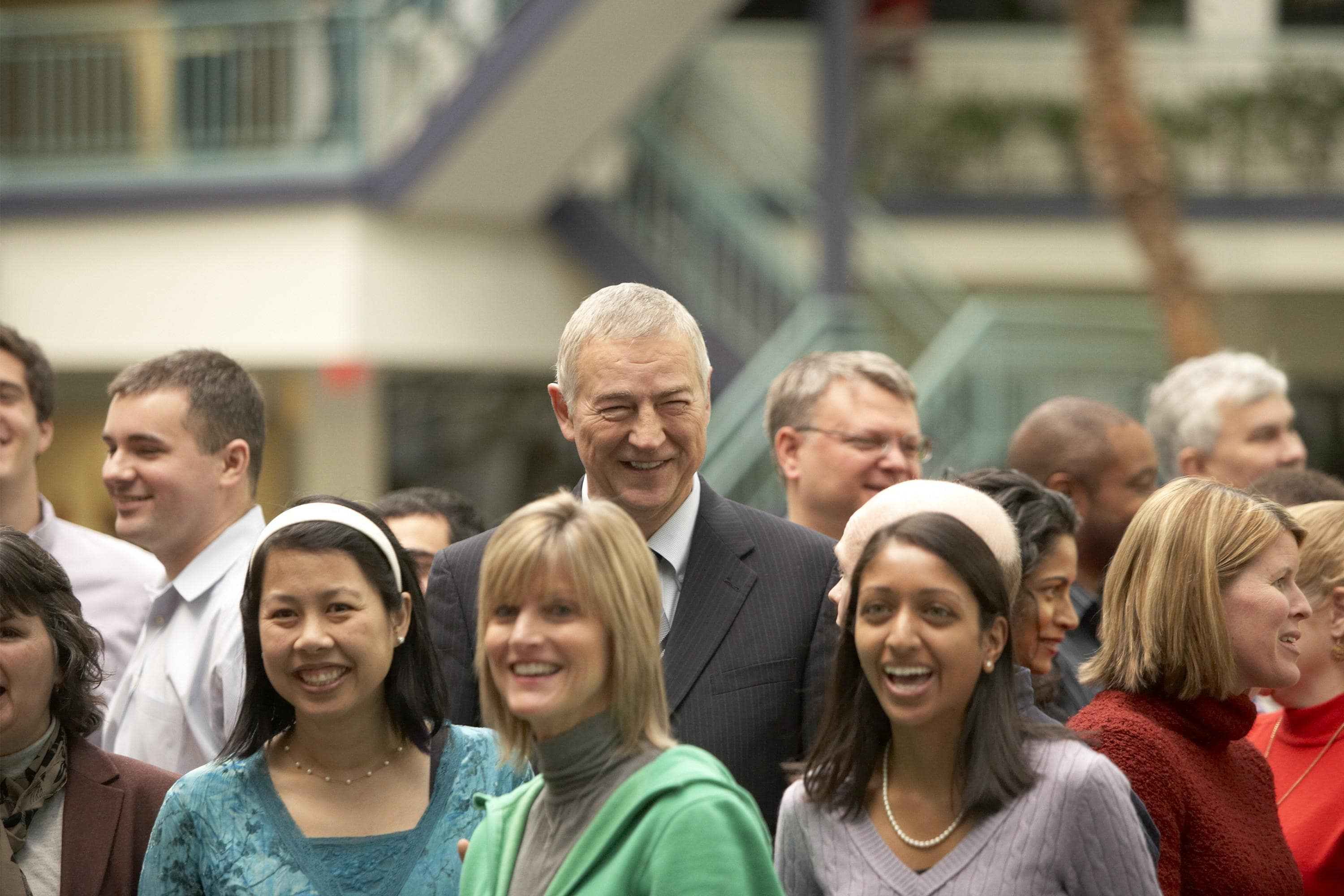 Jim Goodnight and SAS employees