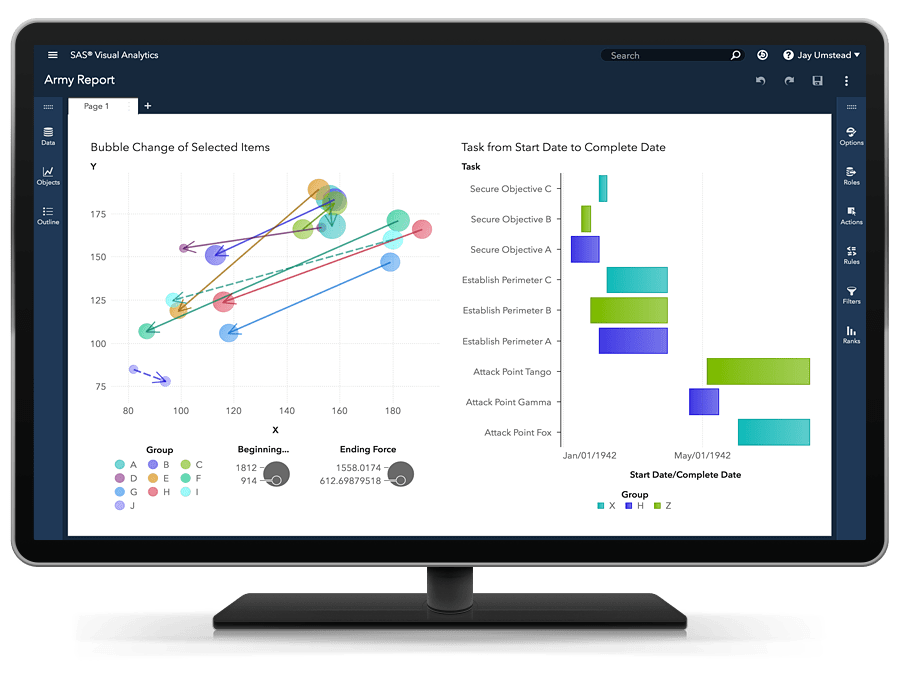SAS® Visual Analytics - default visualization