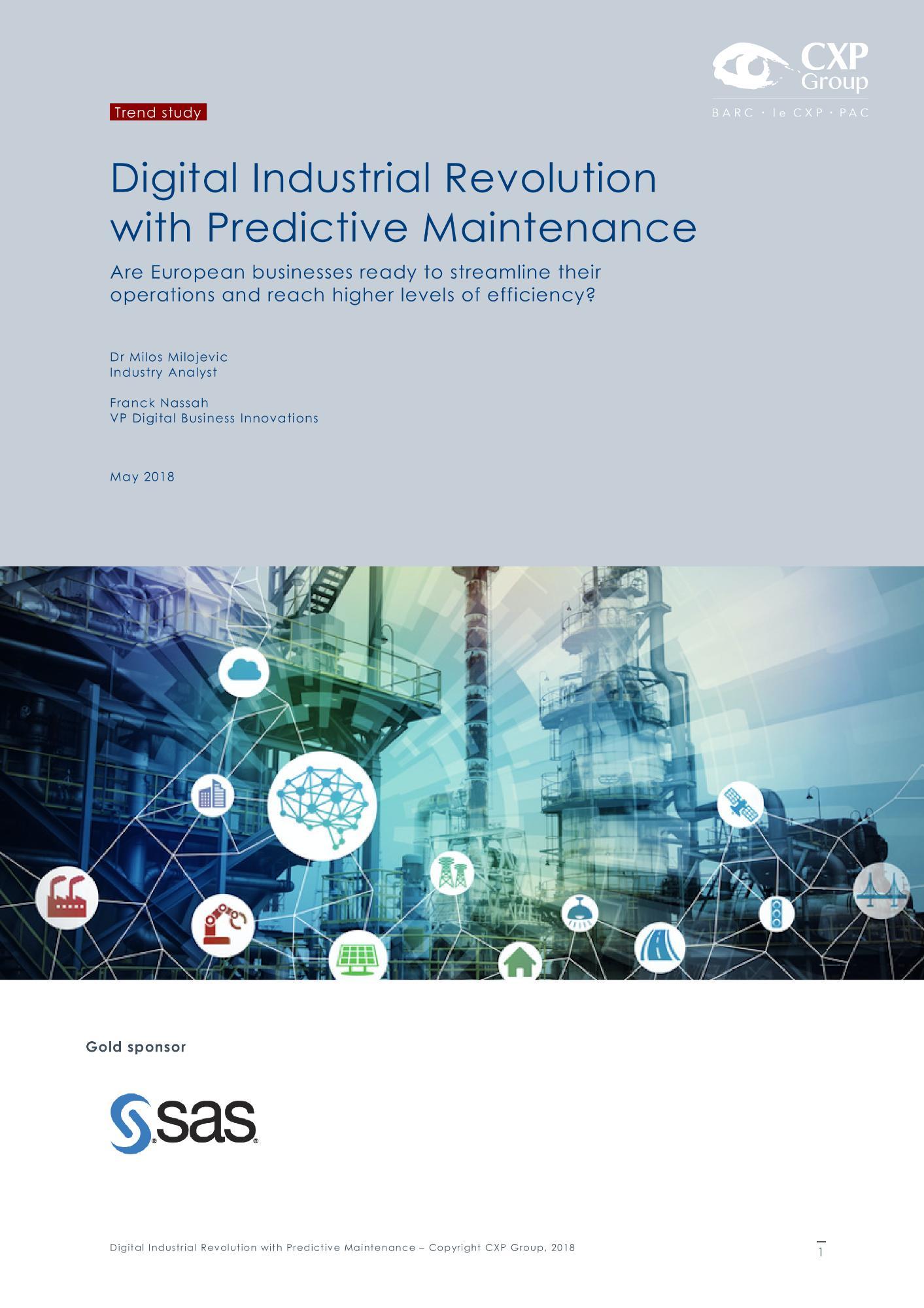 Digital Industrial Revolution with Predictive Maintenance