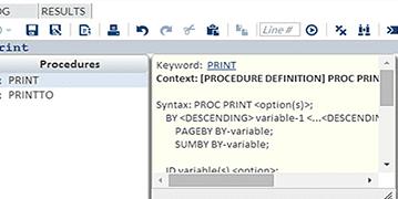 SAS Studio screenshot
