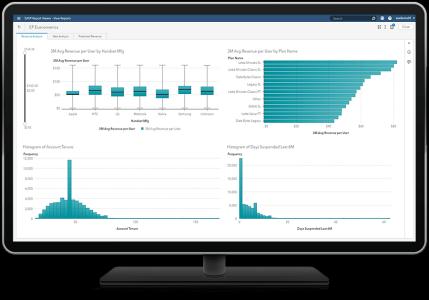 SAS Econometrics output viewed in SAS Visual Analytics on desktop monitor