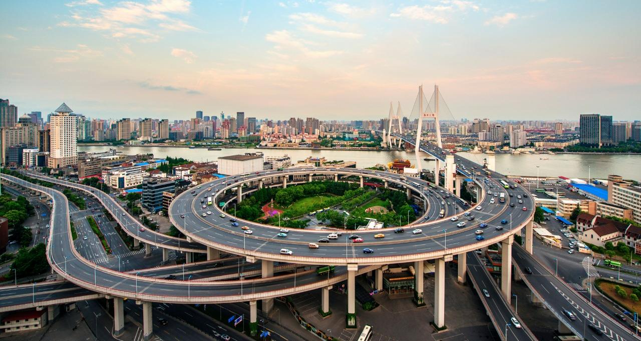 Aerial view of Shanghai Bridge
