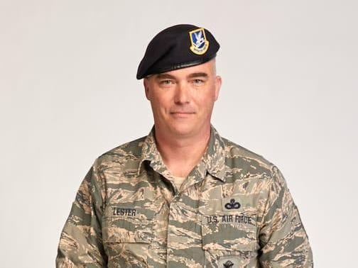 Chris Lester in military uniform