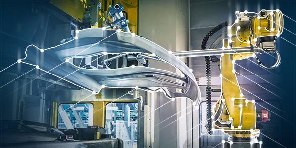 High-tech factory equipment