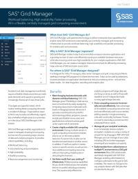 SAS Grid Manager fact sheet thumbnail