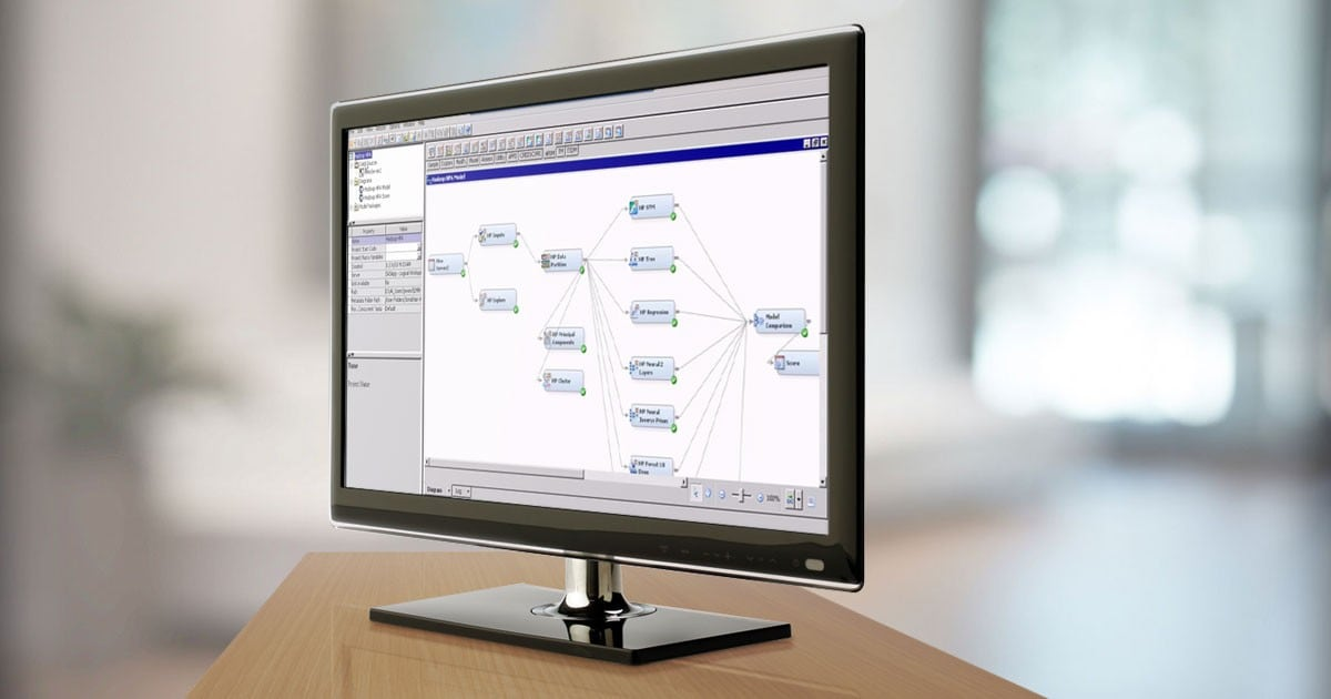 SAS Scoring Accelerator for Hadoop shown on desktop monitor