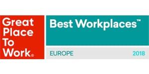 2018 Great Place To Work Europe award logo