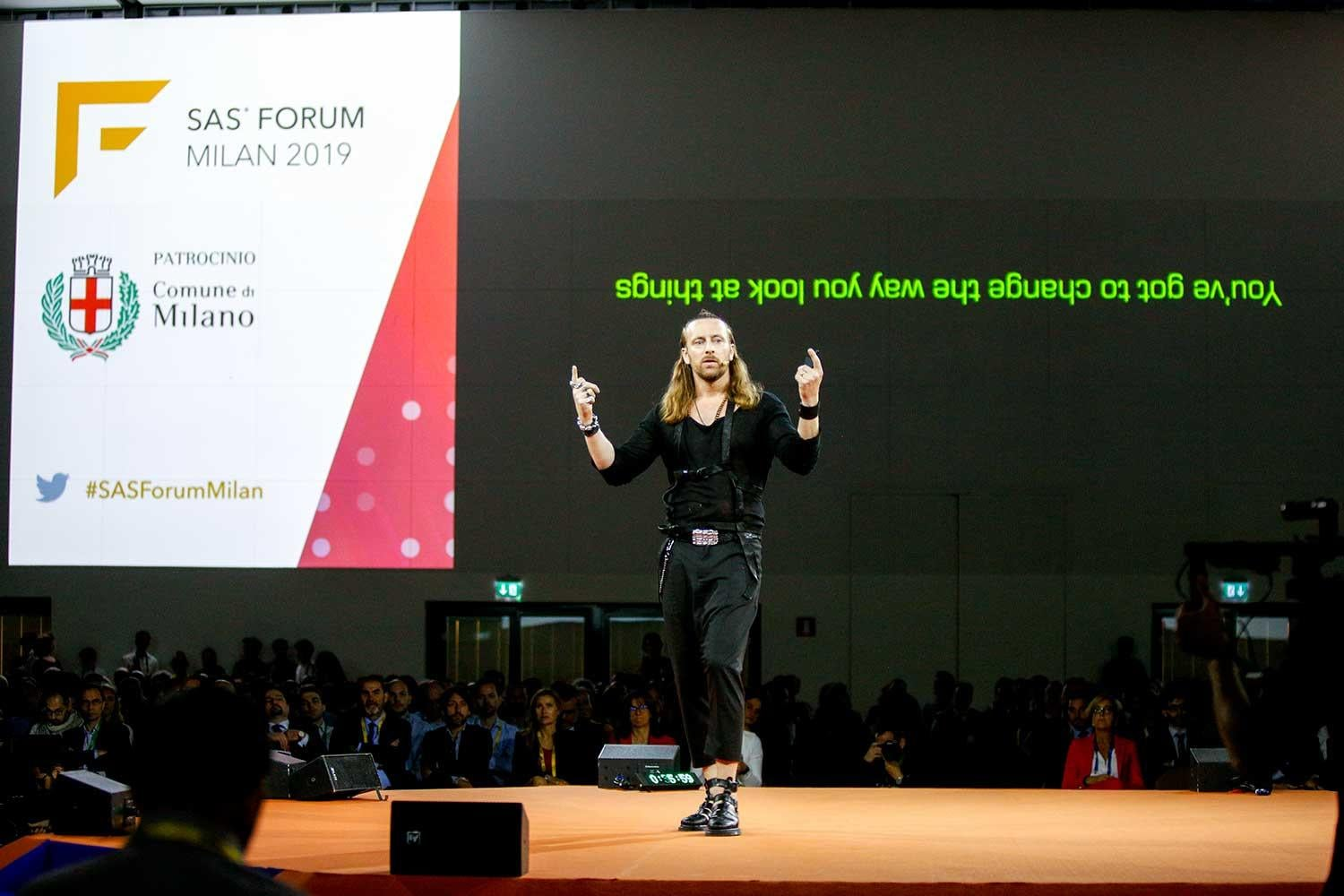Anders Indset, the Business Philospher a SAS Forum Milan 2019