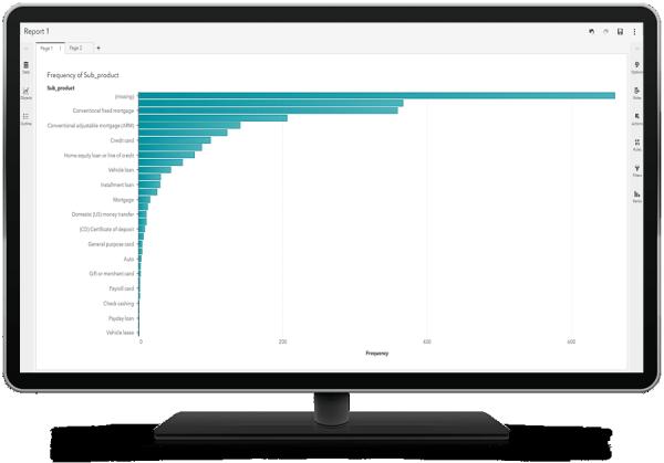 SAS Analytics for IoT mostra la matrice di clustering su un monitor da tavolo