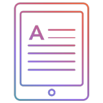 Gradient Icon with eReader