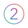Number 02 Icon Gradient Colors