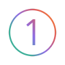 Number 01 Icon Gradient Colors