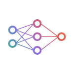 Neural Network Icon Gradient Colors