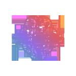 AI Brain with CPU Icon Gradient Colors