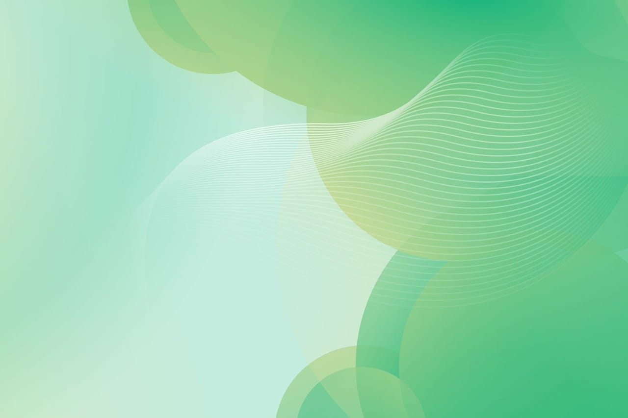 Green Background with Circles and crossing lines