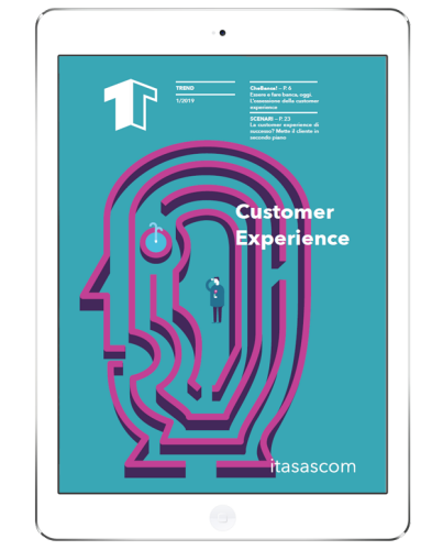 iPad con cover Trend Customer Experience by itasascom digitale