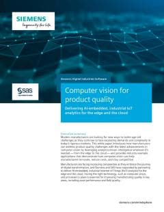 Computer vision for product quality
