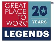 Great Places to Work Legends award