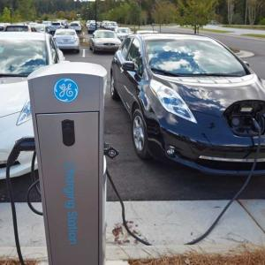 SAS' Cary world headquarters provides parking for electric charging stations