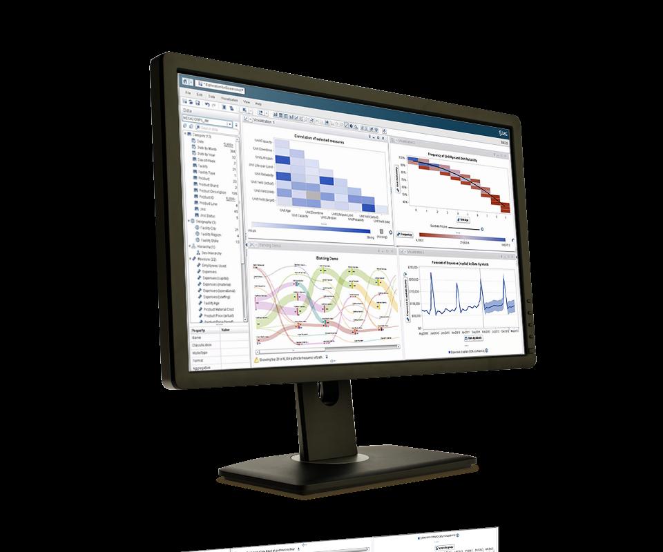 Visual Analytics screen on monitor