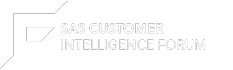 SAS Customer Intelligence Forum 2016 | Logo | white