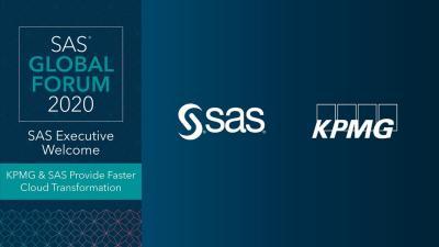 SAS Global Forum:KPMGとSASがより高速なクラウドトランスフォーメーションを提供