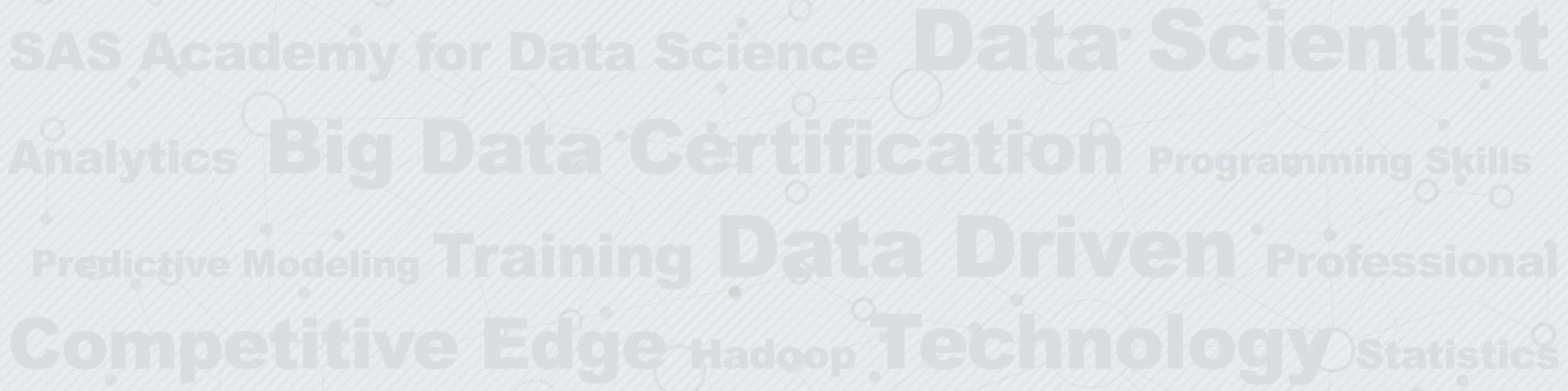 Academy for data science words