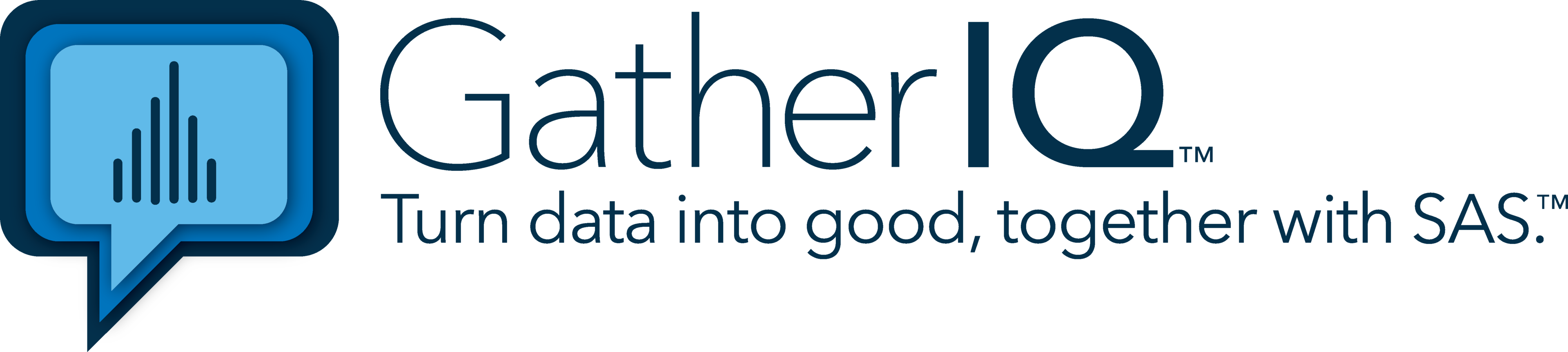 GatherIQ Turn Data Into Good, Together With SAS logo