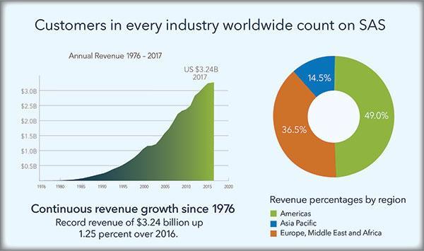 2017 SAS revenue graphic