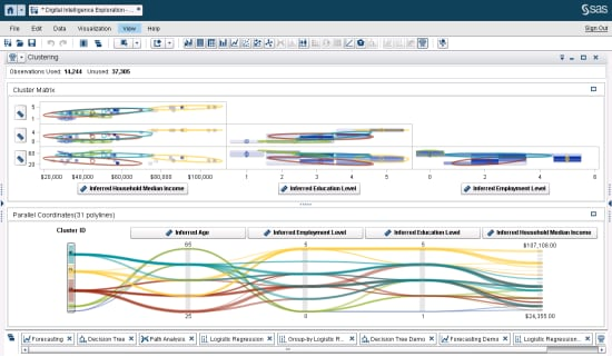 SAS Customer Intelligence 360 screenshot