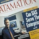 Jim Goodnight on the cover of Datamation