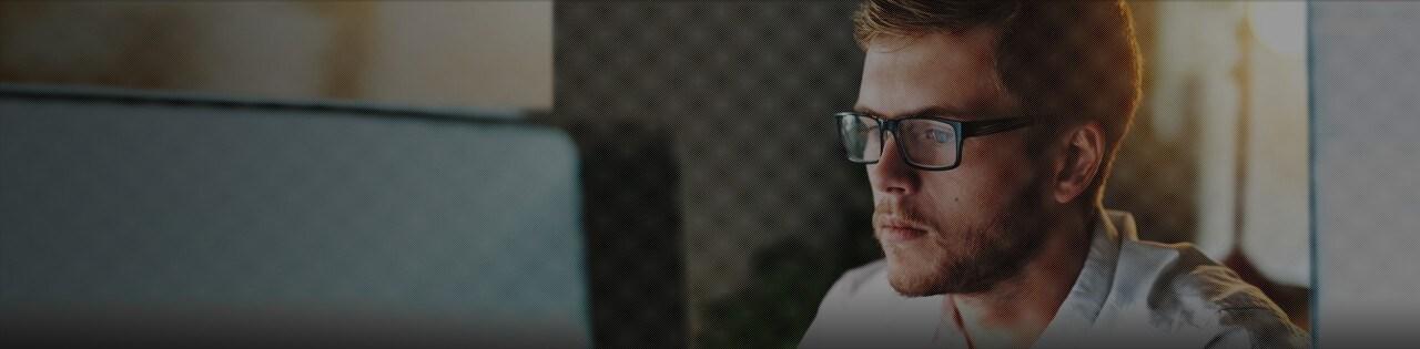 Man at Desktop Computer