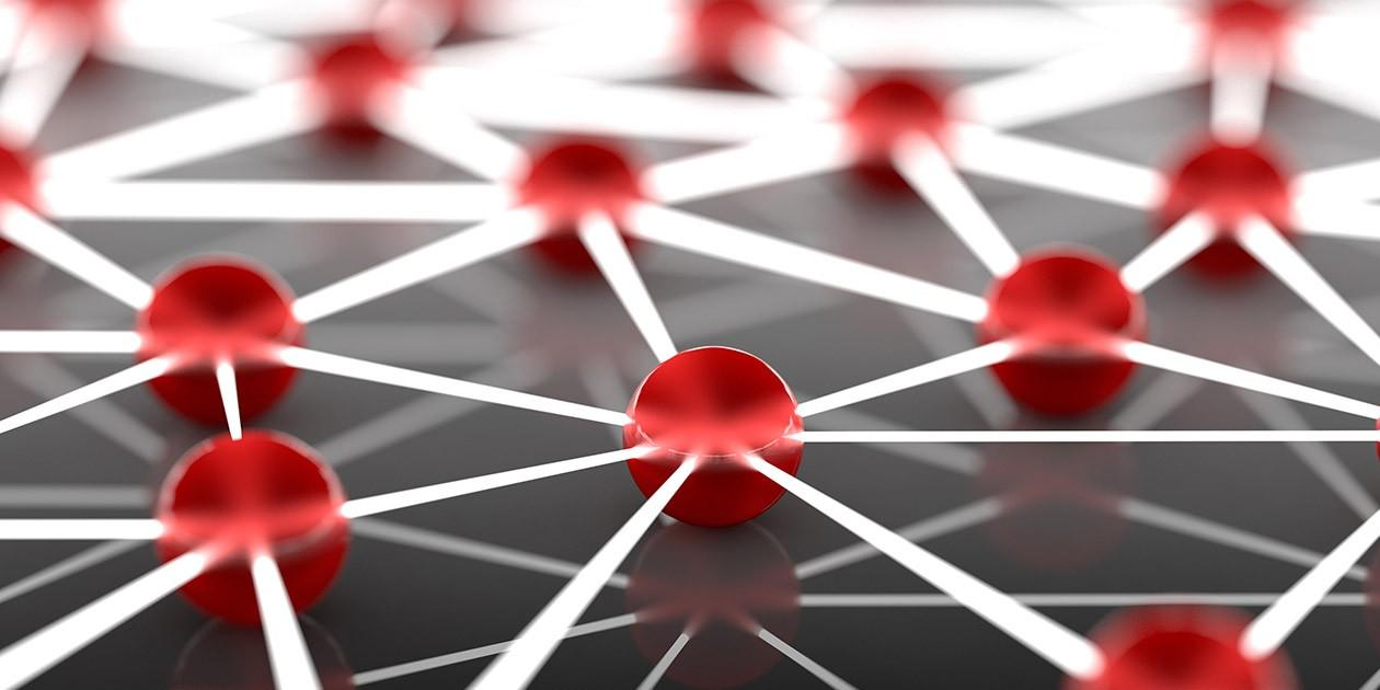 abstract image of network spheres
