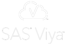 SAS viya logo white