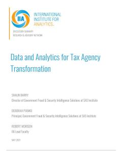 Data and Analytics for Tax Agency Transformation