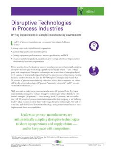 Disruptive Technologies in Process Industries