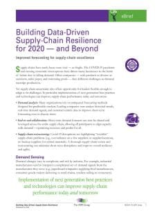 Building Data-Driven Supply-Chain Resilience for 2020 - and Beyond