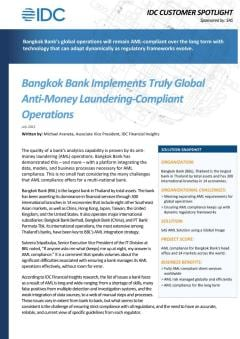 Bangkok Bank Implements Truly Global Anti Money Laundering Compliant Operations