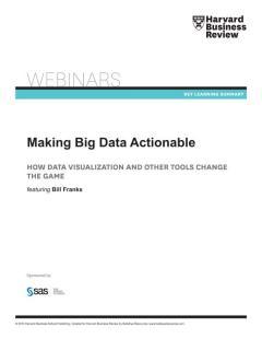 Making Big Data Actionable