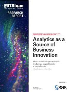 Analytics as a Source of Business Innovation