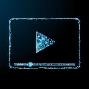 Webinar blue mesh illustration