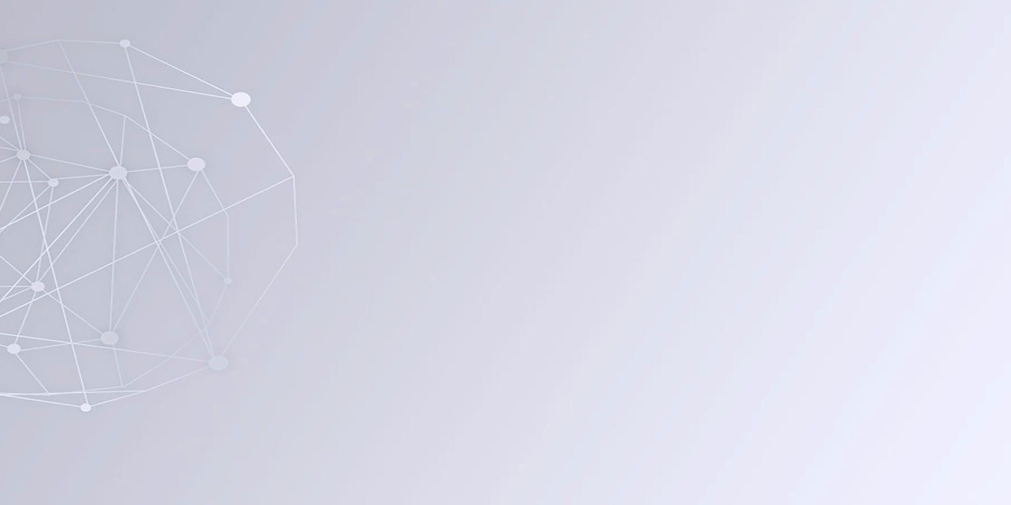 network framework on gray background