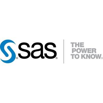 SAS logo in color horizontal format