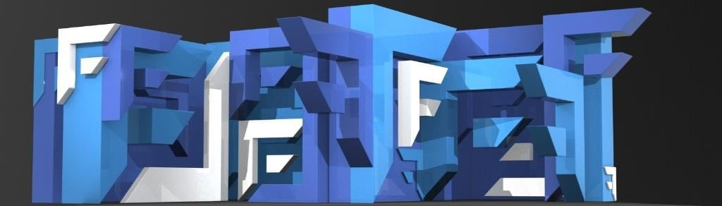 Abstract Blue decor virtual event forum