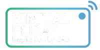 virtual friday green blue logo