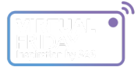 virtual friday blue purple logo